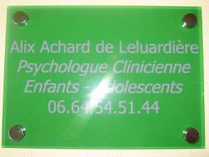 Plaque psychologue psychiatre psychotherapeute
